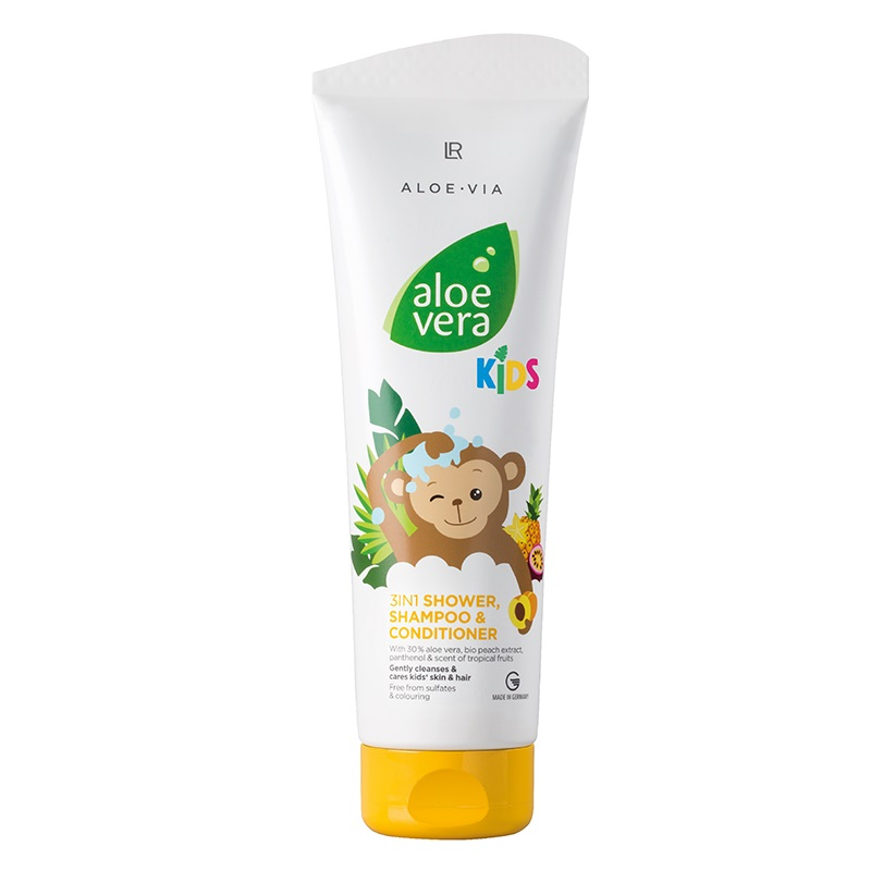 Aloe Vera Jungle Friends 3in1 Šampon, kondicionér & sprchový ge