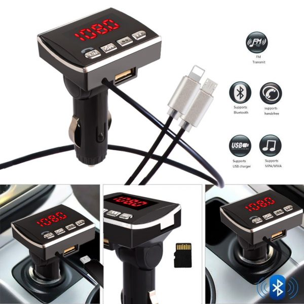 FM transmitter A6 Wireless Bluetooth MP3